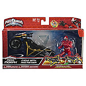 Power Rangers Ninja Steel Mega Morph Cycle with Red Ranger