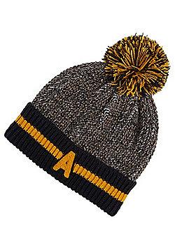 F&F Varsity Stripe Bobble Hat - Navy
