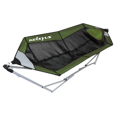 Kelsyus Lay Portable Hammock in Green Mesh