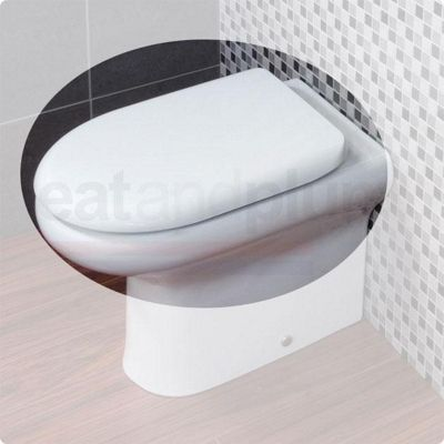 RAK Compact Back to Wall Wrap Over Plastic Toilet Seat