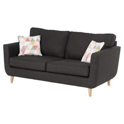 Sienna Large 3 Seater Sofa, Dark Grey