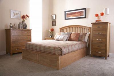Madrid Solid Wood Storage Bedstead