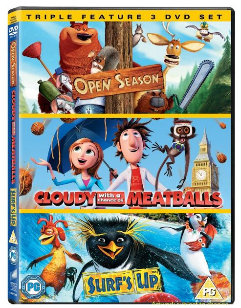 Cloudy With A Chance Of Meatballs / Open Season / Surf'S Up