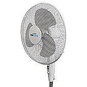 Lloytron F1222WH High Quality 'STAY COOL' 16'' (40cm) 50w Pedestal Fan - White