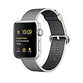 Apple Series 2 (42mm) Watch with Silver Aluminium Case and Pearl Woven Nylon Band