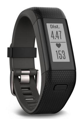 Garmin Vivosmart Black HR+ GPS Fitness Smart Notifications Activity Tracker - XL