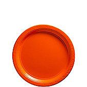 Orange Dessert Plates - 17cm Paper Party Plates - 8 Pack