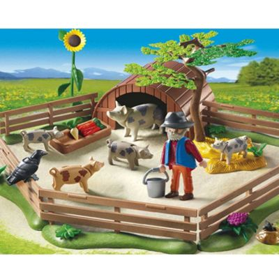 Playmobil Pigs with Enclosure