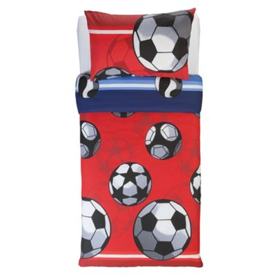 Tesco Kids Kids Reversible Football Duvet Cover Set Single