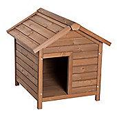 PawHut Wooden Dog Kennel Pet House Removable Floor Apex Roof (66L x 75W x 69H cm)