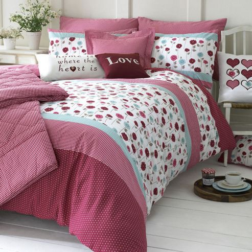 Kirstie Allsopp Home Living Lydia Cherry Housewife Pillowcase Pair