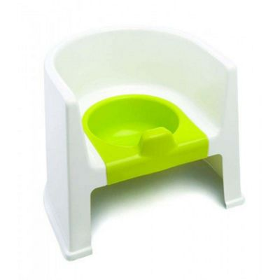 The Neat Nursery Training Potty Chair (White/Lime)