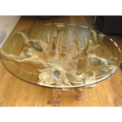 1.5m Reclaimed Teak Root Circular Dining Table