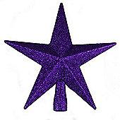 Purple Glitter Star Christmas Tree Topper (20cm) by Premier