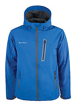 Vickan Active Softshell Hooded Water Resistant Breathable Lightweight Jacket - Blue