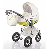 DaVos Moto Style Pure Leather 2 in1 Pram and Pushchair Yellow