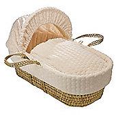 Clair de Lune Palm Moses Basket (Marshmallow Cream)