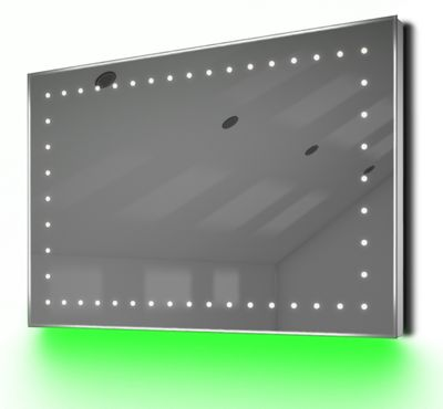 Ambient Shaver LED Bathroom Illuminated Mirror With Demister Pad & Sensor K171G