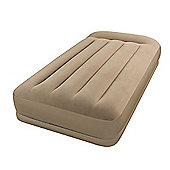 Intex Pillow Rest Mid-Rise Single Size Airbed with Built-in Electric Pump