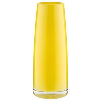 Tesco Taper Vase, Yellow