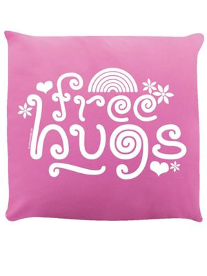 Free Hugs Cushion 40x40cm Pink