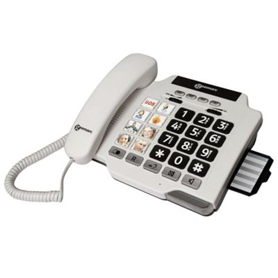 Geemarc Photophone 100 Big Button Corded Telephone - White