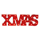 Red XMAS Sign with LED Illumination 69cm
