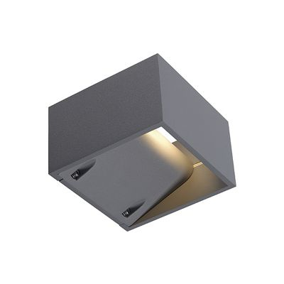 Logs Wall Lamp Light Square Silvergrey 6W LED Warm White