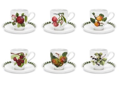 Portmeirion Pomona Coffee Cup and Saucer 0.11L
