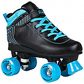 Rookie Starlight Kids Quad Roller Skates - Black/Blue - Black