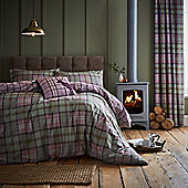 Catherine Lansfield Heritage Kelso Check Heather Duvet Cover Set - Purple