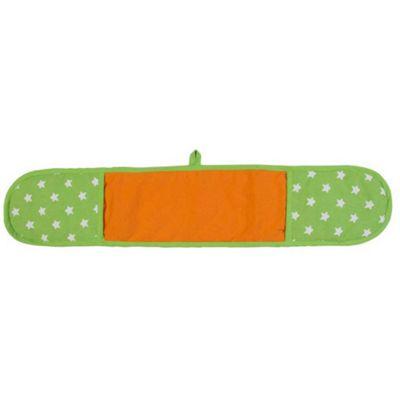 Homescapes Cotton Stars Lime Green Orange Double Oven Glove