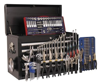 Sealey AP33059BCOMBO Topchest 5 Drawer - Ball Bearing Runners - Black with 137pc Tool Kit