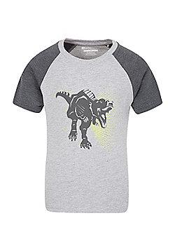 Mountain Warehouse T-REX KIDS TEE - Grey
