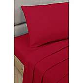 Rapport Percale Fitted Sheet - Red