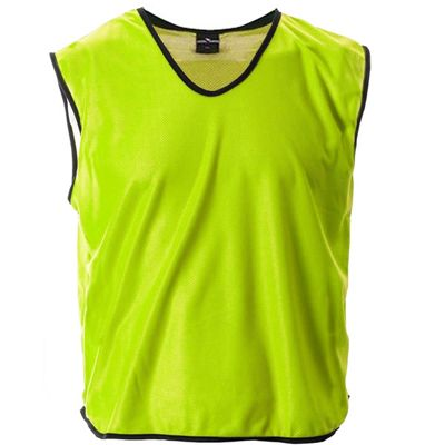 Mesh Football Rugby Sports Training Tank Top Sports Bib Yellow - XS/S