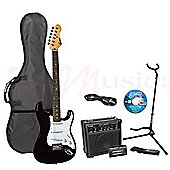 Encore E375 Black Kids 3/4 Size Electric Guitar Pack