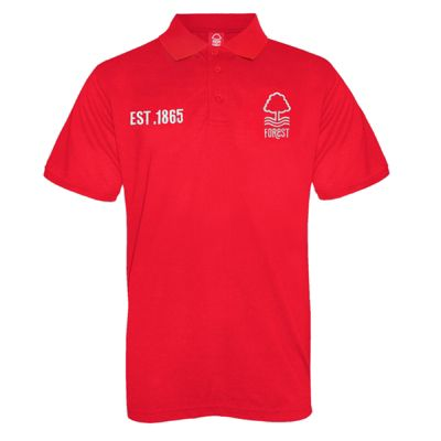 Nottingham Forest FC Mens Polo Shirt Red Small