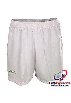 Viga White and Green Team Football Shorts - Multi