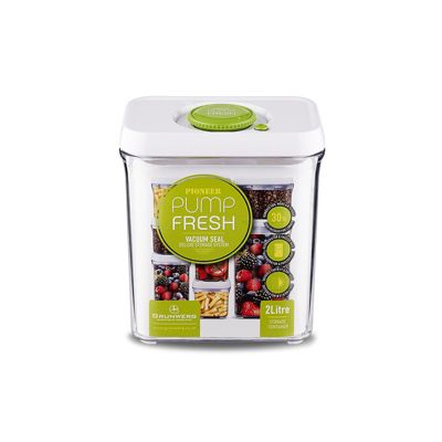 Pump Fresh Storage Canister 2L, White and Green