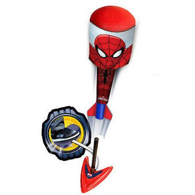 Marvel Spider-Man Two Sky Foam Rockets With Launch Base