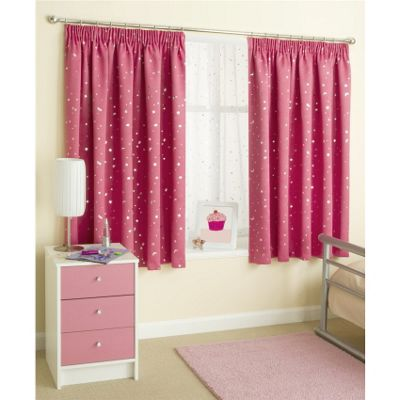Enhanced Living Moonlight Pink Pencil Pleat Curtains - 66x90 Inches (168x229cm)