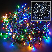 200 LED Multi Coloured Chaser Indoor Outdoor Garden Christmas Party String Lights