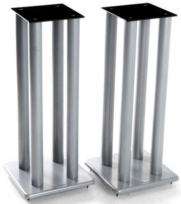 Atacama Pair of Speaker Stands in Silver - Height 700mm