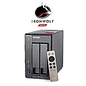QNAP TS-251+-2G/16TB-IronWolf (2x8TB Seagate IronWolf) High-performance Intel quad-core NAS