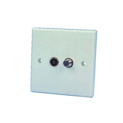 Flush Mounting TV/Satellite Outlet Socket