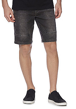 F&F Denim Sweat Shorts - Washed black