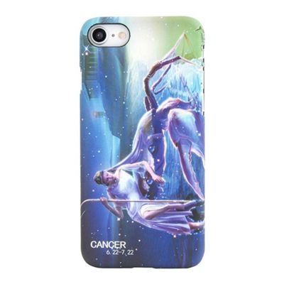 iPhone 7 Cancer Star Sign Glow In the Dark Slim Protective Phone Case - Multi