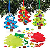 Christmas Tree Hanging Decoration Sewing Kits for Children to Decorate and Display - Make Your Own Creative Xmas Toy for Kids (Pack of 3)