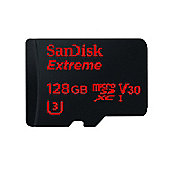 Sandisk Extreme 128GB MicroSDXC UHS-I Class 10 memory card